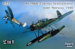 SW72120 1/72 Arado Ar-196A-2 floatplane vs Gloster Sea Gladiator